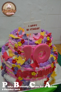 Pinky Butterfly Cake For Afrina