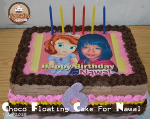 Choco Floating Cake For Nawal