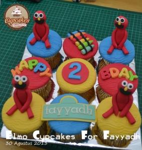 Elmo Cupcakes for Fayyadh