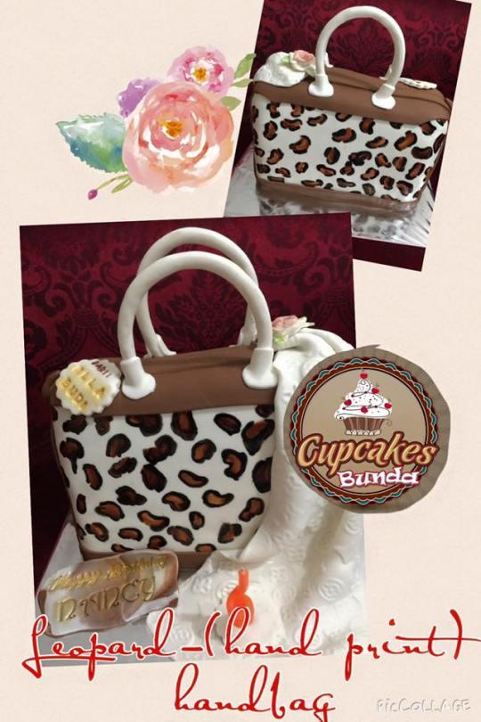 Leopard Hand-printed Haandbag